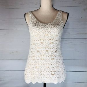 American Eagle Outfitters Crochet Tank Top Size
